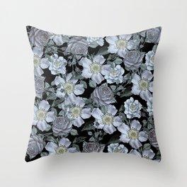 Roses at Night Throw Pillow