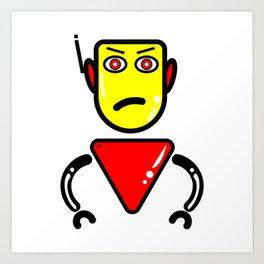 Robot Security Guard Art Print