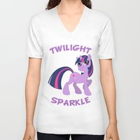 mlp V-neck T-shirts featuring MLP FiM: Twilight Sparkle by Yiji