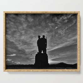 The Commando Memorial sunset Serving Tray
