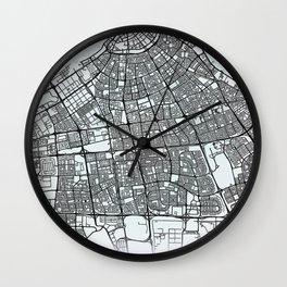 Kuwait City, Kuwait, White, City, Map Wall Clock