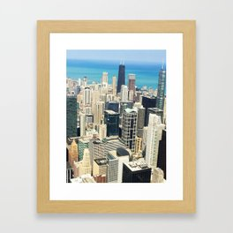 Chicago Buildings Color Photo Framed Art Print