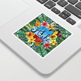 Aloha - Tropical Flower Food and Animal Summer Design Sticker