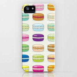 Colorful macaroon set iPhone Case