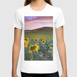 Wonderful Sunflowers. Pink Sunrise T-shirt