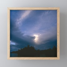 Ray of Hope in the Stormy Sky Framed Mini Art Print