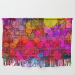 Rainbow Bubbles Abstract Design Wall Hanging