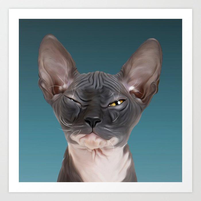 Sphynx Kitten III Art Print by mandyreinmuthart