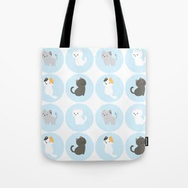 Cute Blue Kitties Tote Bag