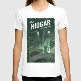 Midgar (Final Fantasy 7) Travel Poster T-shirt