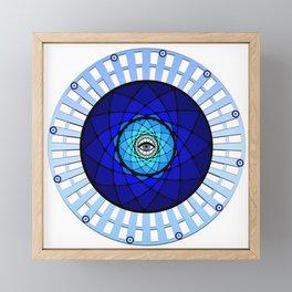 Evil Eye Flower Framed Mini Art Print