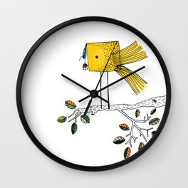 Nosy Bird Wall Clock