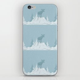 Pattern Winter in the mountains iPhone Skin