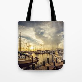 Summer Harbor Sunset Tote Bag