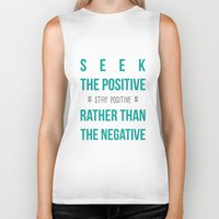 positive Biker Tanks featuring #positive by Cool_Design