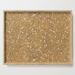 Gold Glitter Serving Tray