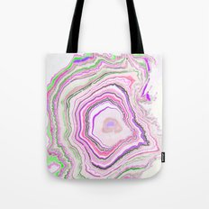Fluorescent Pixellated Rings Tote Bag