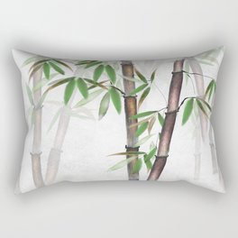 Bamboo Forest on patterned cloth Rectangular Pillow