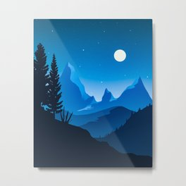 Blue mountains Twilight Metal Print