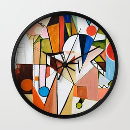 Abstract Beginning Wall Clock