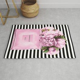 Pink peony, perfume art Rug