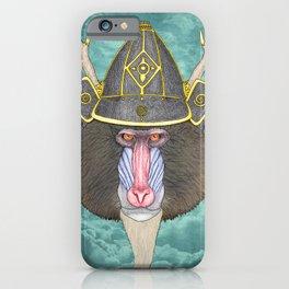 Samurai Mandrill iPhone Case