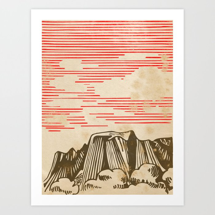Carpathian mountains Art Print