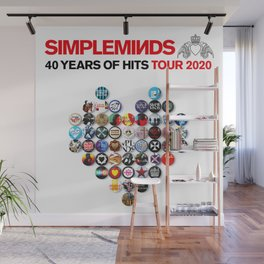 SIMPLE MINDS 40 YEARS OF HITS TOUR DATES 2019 2020 ASAMJAWA Wall Mural