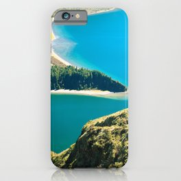 Lake in Azores islands iPhone Case