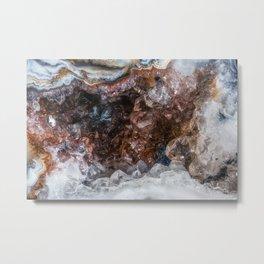 Tiny geode crystal cave Metal Print