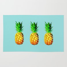 Fresh pineapples  Rug