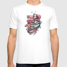 Assemble White MEDIUM Mens Fitted Tee