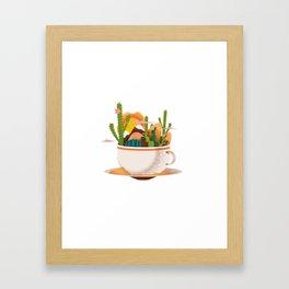A Desert in a Teacup Framed Art Print