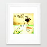 carnage Framed Art Prints featuring Carnage Museum by Ganech joe