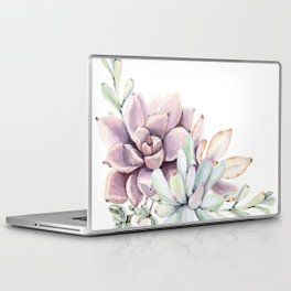 Desert Succulents on White Laptop & iPad Skin