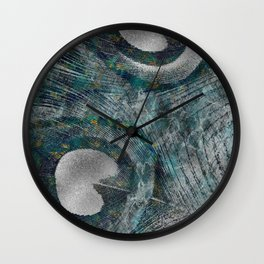 Abstract Peacock quill Digital Art Wall Clock