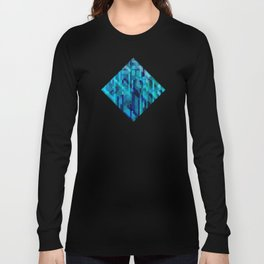 abstract composition in blues Long Sleeve T-shirt
