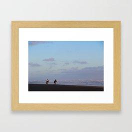 Golden riders Framed Art Print