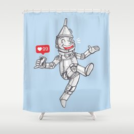 WE CAN'T LIVE WITHOUT SOCIAL MEDIA Shower Curtain