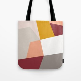 Abstract Geometric 27 Red Tote Bag