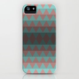 Green and Red Stripes  iPhone Case