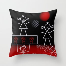 stick figures -01- Throw Pillow