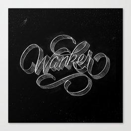 Script Wanker Canvas Print