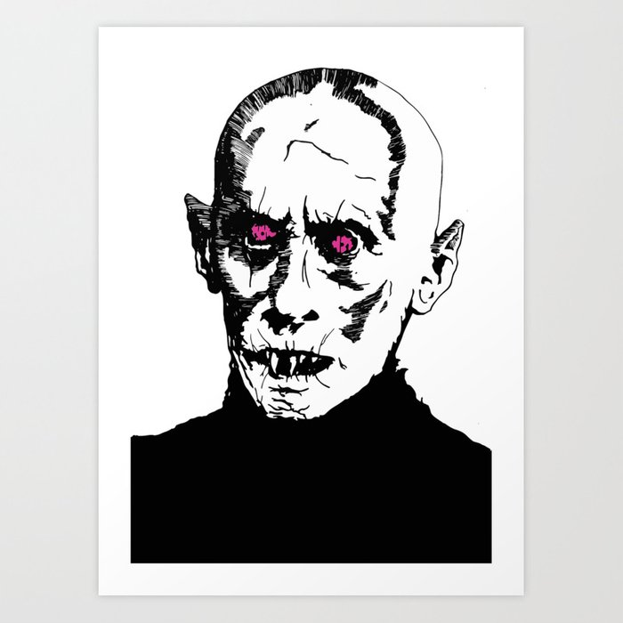Nosferatu the vampire macabre art Art Print by relanimex