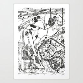 Abandoned Heartworks Art Print