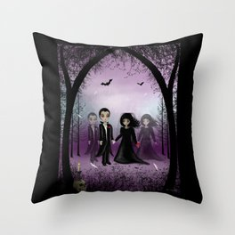 Soul Mates Dark Gothic Romance Print Throw Pillow