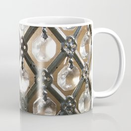 Rustic Glam Crystals and Metal Coffee Mug
