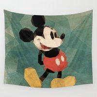 mickey Wall Tapestries featuring Mr. Mickey Mouse by Ed Burczyk