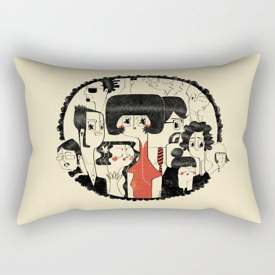 Crowd Rectangular Pillow