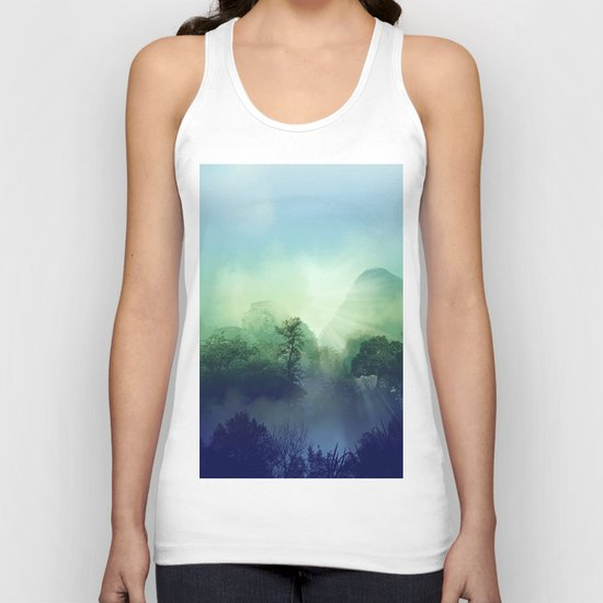 tropical green forest Unisex Tank Top